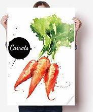 DIYthinker Karotten-Gemüse Tasty Healthy Aquarell