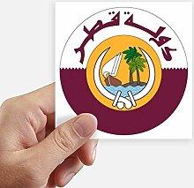 DIYthinker Katar Asien National Emblem Stickers