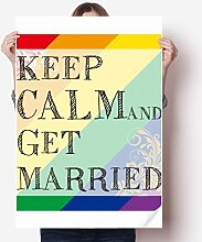 DIYthinker LGBT Rainbow Flag Get Married