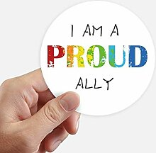 DIYthinker LGBT Rainbow Flag Proud Ally Aufkleber
