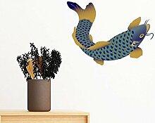 DIYthinker Malerei Kultur Blue Fish entfernbarer