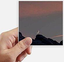 DIYthinker Moon Mountain Sky Quadrataufkleber 10Cm