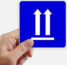 DIYthinker Nach Oben Warnung Blue Square Mark