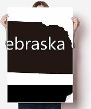 DIYthinker Nebraska Amerika USA-Karte Silhouette
