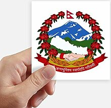 DIYthinker Nepal Asien National Emblem Stickers
