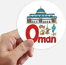 DIYthinker Oman Nationales Symbol Zeichen-Muster