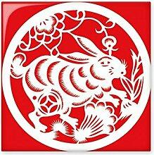 DIYthinker Papier-Schnitt Kaninchen Tier China