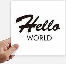 DIYthinker Programmer Interface Hallo World Square