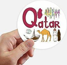 DIYthinker Qatar National Symbol Zeichen-Muster