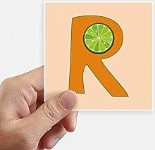 DIYthinker R Alphabet Orange