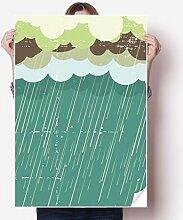 DIYthinker Regen-Wolke Seewetter Muster