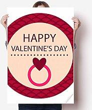 DIYthinker Rosa Runde glücklicher Valentinstag