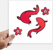 DIYthinker Rot Fish Japan Chinesischer