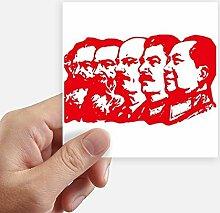 DIYthinker Rot Marxismus Vorsitzender Mao China