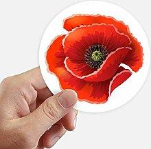DIYthinker Rote Blumen-Malerei Big Corn Poppy