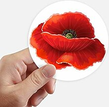 DIYthinker Rote Blumen-Malerei-Mohnblume-Kunst
