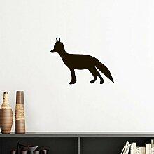 DIYthinker Schwarz Fox Cute Tier Portrayal