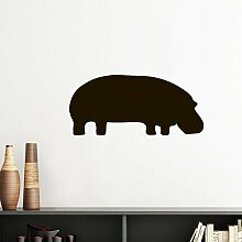DIYthinker Schwarz Hippopotamus Tier Portrayal