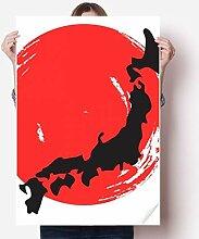 DIYthinker Schwarze Karte Abstrakte Japan