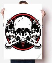 DIYthinker Skeleton Piraten-Dekoration Muster