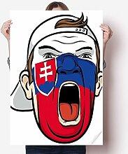 DIYthinker Slowakei-Flagge Gesichtsmalerei Makeup