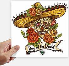 DIYthinker Sombrero Suger Schädel Mexiko Tag der