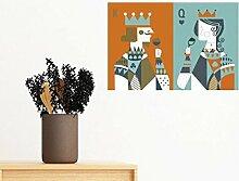 DIYthinker Spielkarten Illustration K Q-Muster