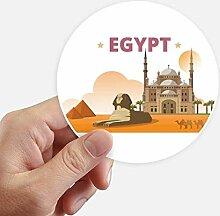 DIYthinker Stadt Pyramide Sphinx Ägypten Runde