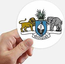 DIYthinker Swasiland Afrika National Emblem