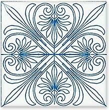 DIYthinker Talavera-Art-Blau dekorativen