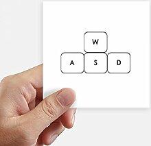 DIYthinker Tastatur Symbol ASWD Quadrataufkleber