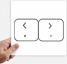 DIYthinker Tastatur Symbol Brackets