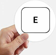 DIYthinker Tastatur Symbol E Runde Sticker 10Cm