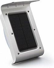 Dizaul® 16 Kaltweiß-LEDs, Kabellose Außenleuchte, Außenwandleuchte / Solarleuchte / Wand Solarlampe mit Bewegungsmelder,Dämmerungsschalter für vieler Situation,Wetterfest und Batterielos,Solarbetriebene,Umweltreundlich,Sicher und Energiesparend