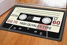 DIZI 40 * 60 cm Retro Nostalgie Band Bunte Matten
