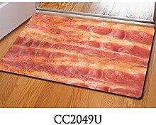DIZI 40x60 cm Bodenmatte Pizza Gedruckt Bad Küche