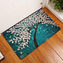 DIZI Bodenmatte Malerei Baum Gedruckt Fußmatte