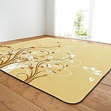 DIZI Retro Teppich Gedruckt Blume Weichen Flanell