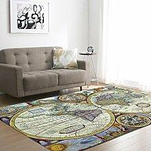 DIZI Weltkarten Gedruckt Große Teppiche Weiche