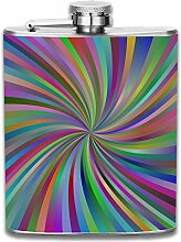 Dizzy Stripes Outdoor Tragbarer Flachmann-Set,