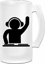 DJ bereifte Bierkrüge-Trommel-Bier-Schale 16 Unze
