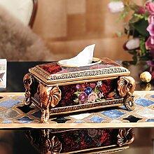 DJ Buchen Sie Box-Stil Ornamente Harz Gewebe Box Wohnzimmer Ideen home Dekoration