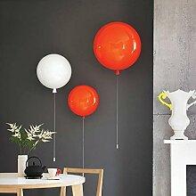 dj Bunte Ballons Kinderzimmer Schlafzimmer Wandleuchte in Gang Wandleuchte LED Licht moderne minimalistische Schlafzimmer Nachtlicht Tisch ( farbe : Orange-25cm )