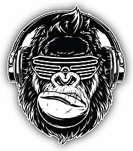 Dj Gorilla - Self-Adhesive Sticker Car Window