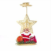 Djkaa Weihnachten Eisen Kerzenständer Ornament