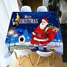 Djkaa Weihnachtstischdecke Nettes Weihnachtsmann-