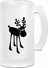 DJNGN Double Wall Frosty Bierkrug Classic Elk