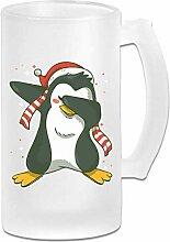 DJNGN Double Wall Frosty Bierkrug Classic Penguin