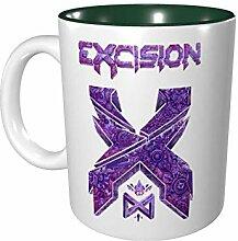 DJNGN Excision Color Mug Porzellan Cup Mug 330ml