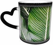 DJNGN Farbwechsel Becher, Blätter tropische Natur